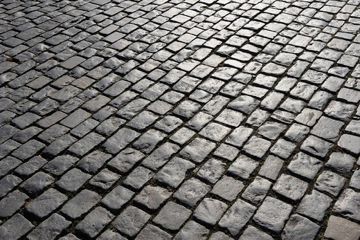 Stock Photo: 1828R-70756 Cobblestone Road