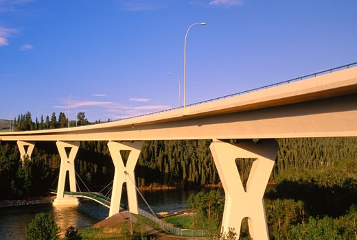 Stock Photo: 1828R-7321 The Stoney Trail Bridge, Calgary, Alberta Canada