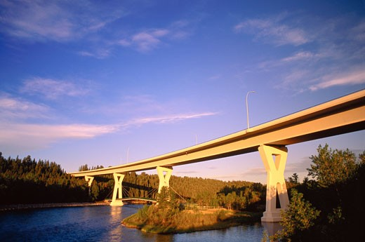 Stock Photo: 1828R-7322 The Stoney Trail Bridge, Calgary, Alberta Canada