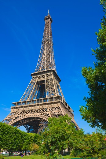 Stock Photo: 1828R-73221 Eiffel Tower, Paris, Ile-de-France, France