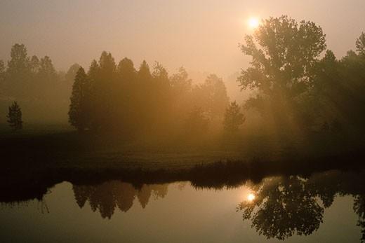 Stock Photo: 1828R-7346 Avon River, Stratford, Ontario, Canada