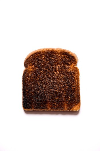 Still Life of Burnt Toast : Stock Photo