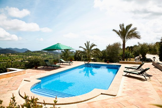 Stock Photo: 1828R-76560 Swimming Pool, Mallorca, Spain