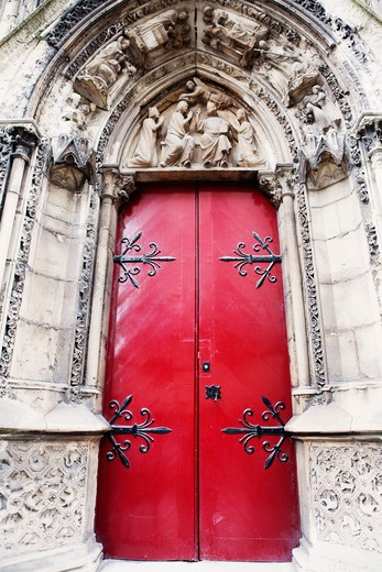 Stock Photo: 1828R-76670 Church Doorway, Paris, France