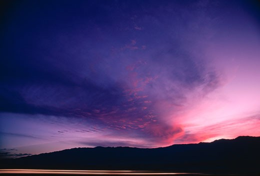 Stock Photo: 1828R-7680 Sunset over Death Valley, California, USA