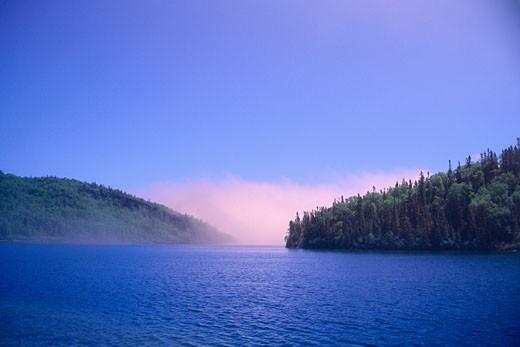 Stock Photo: 1828R-7770 Morn Harbour, Simpson Island, North Coast of Lake Superior, Ontario, Canada