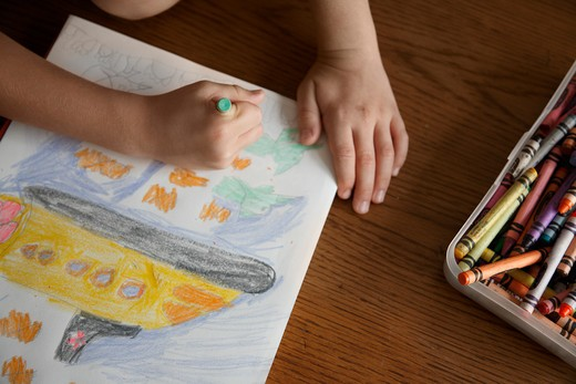 Stock Photo: 1828R-77883 Boy Drawing