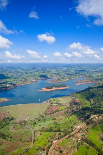Aerial View of Landscape, Kenya : Stock Photo