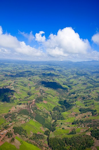 Stock Photo: 1828R-78116 Aerial View of Landscape, Kenya