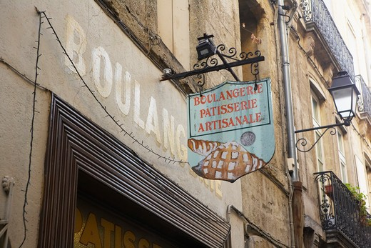 Stock Photo: 1828R-78419 Bakery, Montpellier, Herault, Languedoc-Roussillon, France