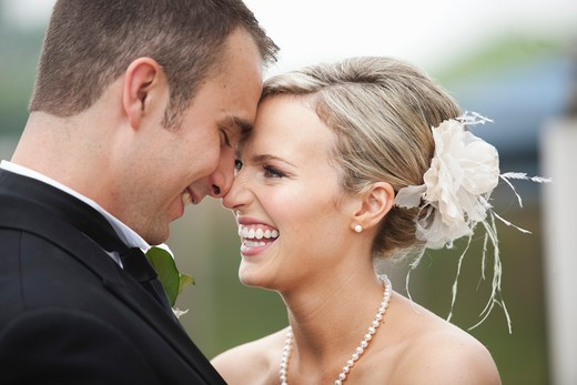 Portrait of Bride and Groom : Stock Photo