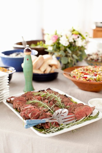 Stock Photo: 1828R-78915 Beef Platter and Salads