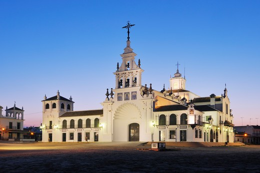 Stock Photo: 1828R-78984 Ermita del Rocio, El Rocio, Huelva Province, Costa de la Luz, Andalusia, Spain