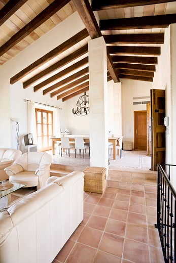 Stock Photo: 1828R-79006 Interior of House, Majorca, Spain