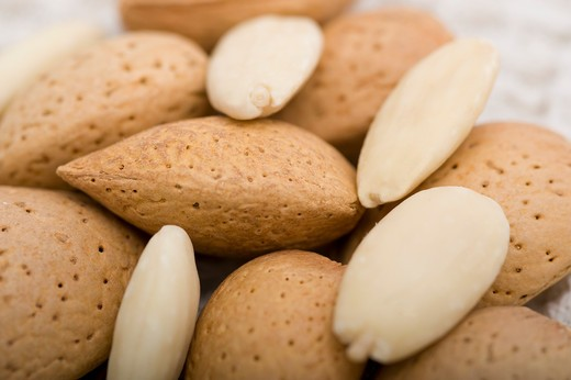 Close-up of Almonds : Stock Photo