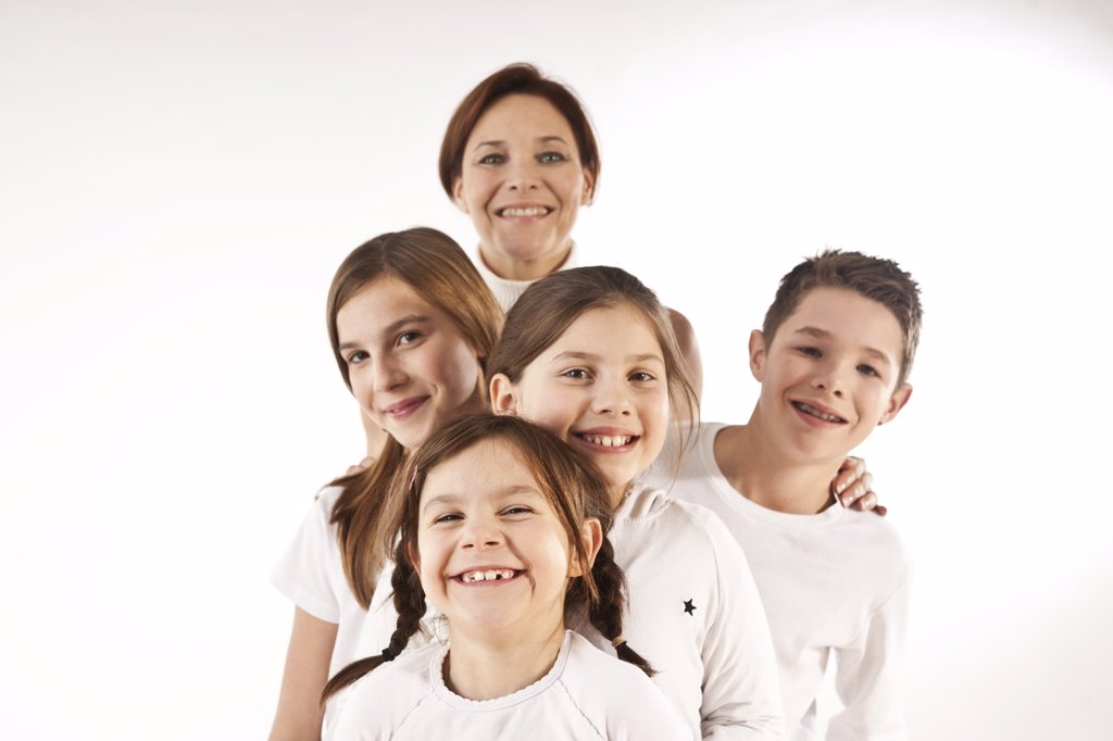 Stock Photo: 1828R-79528 Portrait of Mother and Children