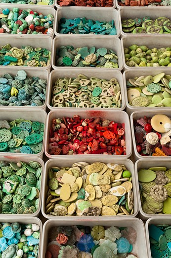 Stock Photo: 1828R-79574 Beads, Panjiayuan Flea Market, Chaoyang District, Beijing, China