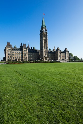 Stock Photo: 1828R-80171 Peace Tower, Parliament Buildings, Parliament Hill, Ottawa, Ontario, Canada