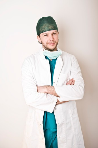 Stock Photo: 1828R-81773 Portrait of Surgeon