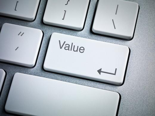 Close-Up of Computer Keyboard : Stock Photo