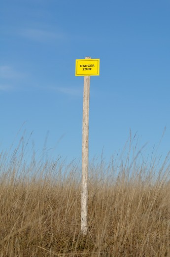 Stock Photo: 1828R-81974 Danger Zone Sign