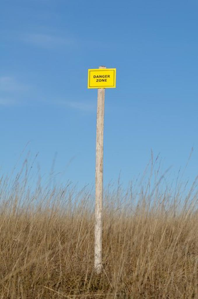 Danger Zone Sign : Stock Photo