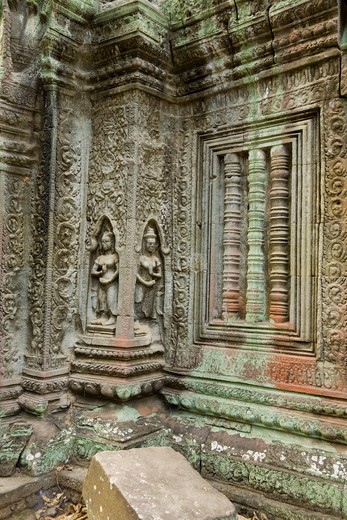 Stock Photo: 1828R-82033 12th - 13th Century Khmer Temple at Ta Prohm, Angkor, Cambodia
