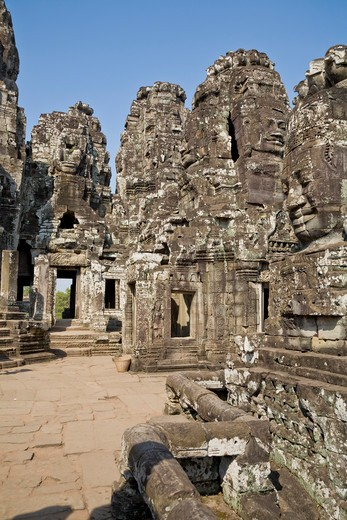 Bayon Temple, Angkor Thom, Angkor, Cambodia : Stock Photo