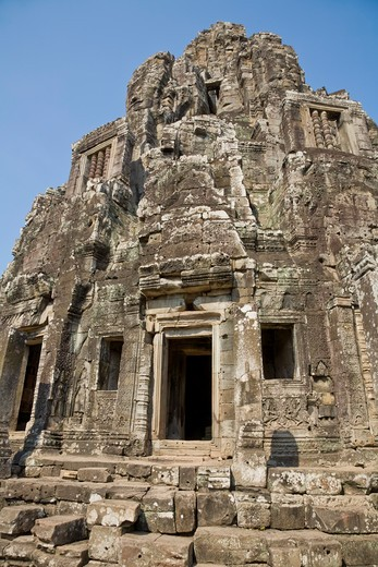 Stock Photo: 1828R-82044 Bayon Temple, Angkor Thom, Angkor, Cambodia