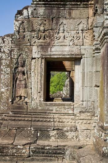 Bayon Temple, Angkor Thom, Angkor, Cambodia : Stock Photo