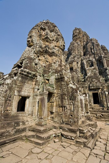 Stock Photo: 1828R-82046 Bayon Temple, Angkor Thom, Angkor, Cambodia
