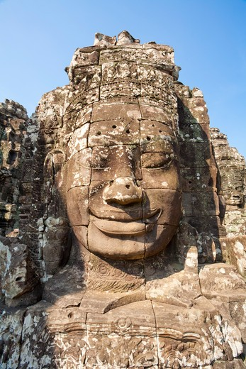 Stock Photo: 1828R-82047 Bayon Temple, Angkor Thom, Angkor, Cambodia
