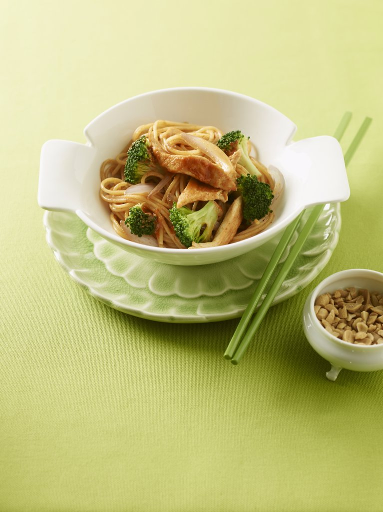 Red Curry Noodles : Stock Photo