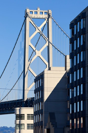 Bay Bridge and Buildings, San Francisco, California, USA : Stock Photo