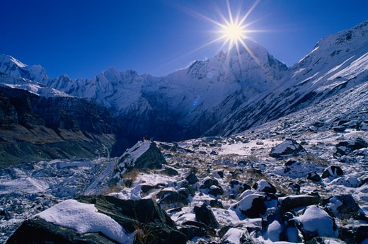 Stock Photo: 1828R-8368 Annapurna Sanctuary, Nepal