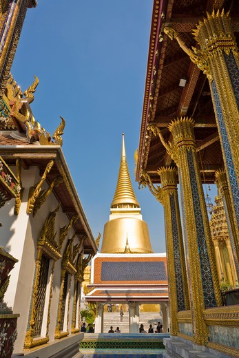 Stock Photo: 1828R-83727 Phra Si Ratana Chedi, Wat Phra Kaew, Grand Palace, Bangkok, Thailand