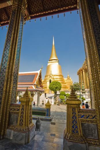 Stock Photo: 1828R-83859 Phra Si Rattana, Wat Phra Kaew, Grand Palace, Phra Nakhon, Bangkok, Thailand