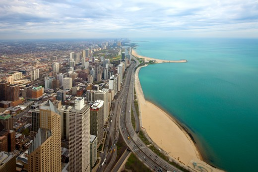 Stock Photo: 1828R-84510 Overview of North Chicago, Illinois, USA