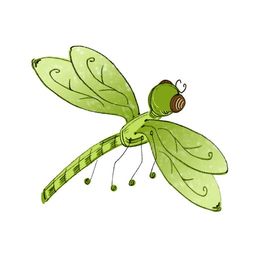 Stock Photo: 1828R-84539 Illustration of Dragonfly
