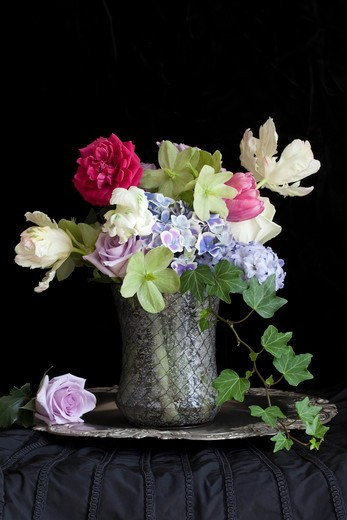 Stock Photo: 1828R-84709 Flowers in Vase on Table