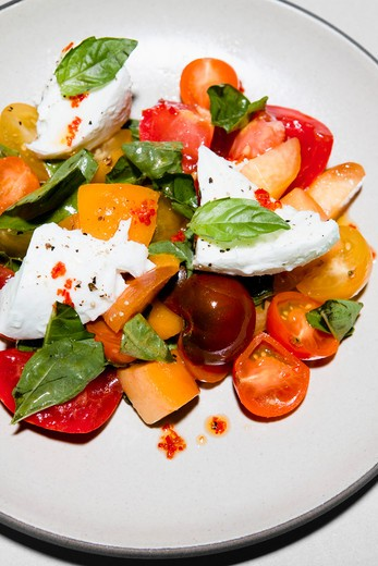 Stock Photo: 1828R-85164 Caprese Salad