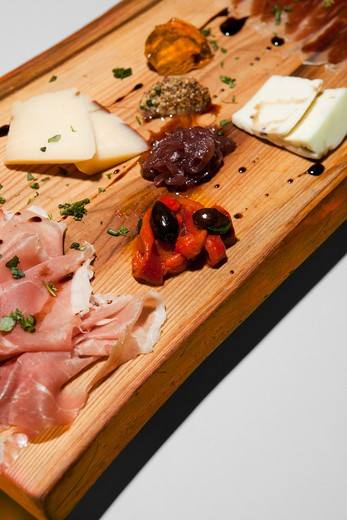 Cured Meat and Cheese : Stock Photo