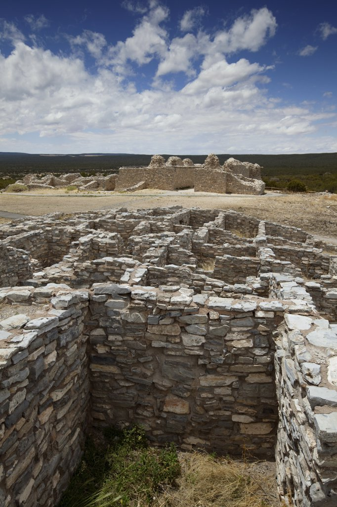 Gran Quivira National Monument, Salinas National Monument, New Mexico, USA : Stock Photo