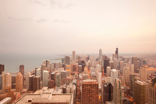 Stock Photo: 1828R-85359 Overview of Downtown, Chicago, Illinois, USA