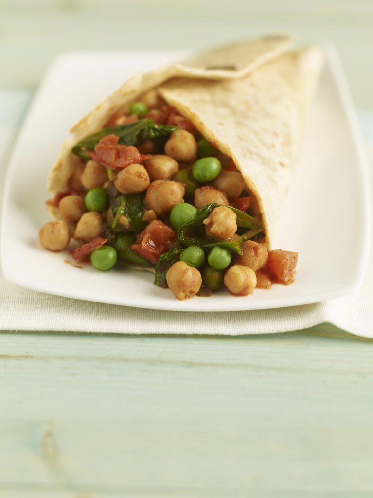 Veggie Roti : Stock Photo