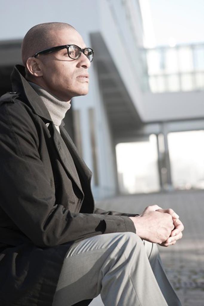 Portrait of Businessman, Mannheim, Baden-Wurttemberg, Germany : Stock Photo