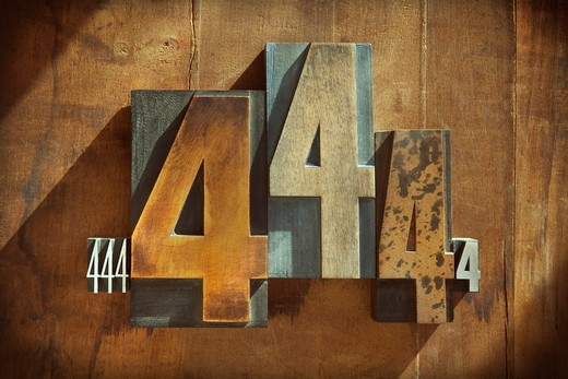 Stock Photo: 1828R-86912 Letterpress 4's