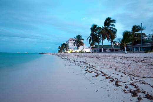 Stock Photo: 1828R-87350 Hotel at Beach, San Andres, San Andres Island, Colombia