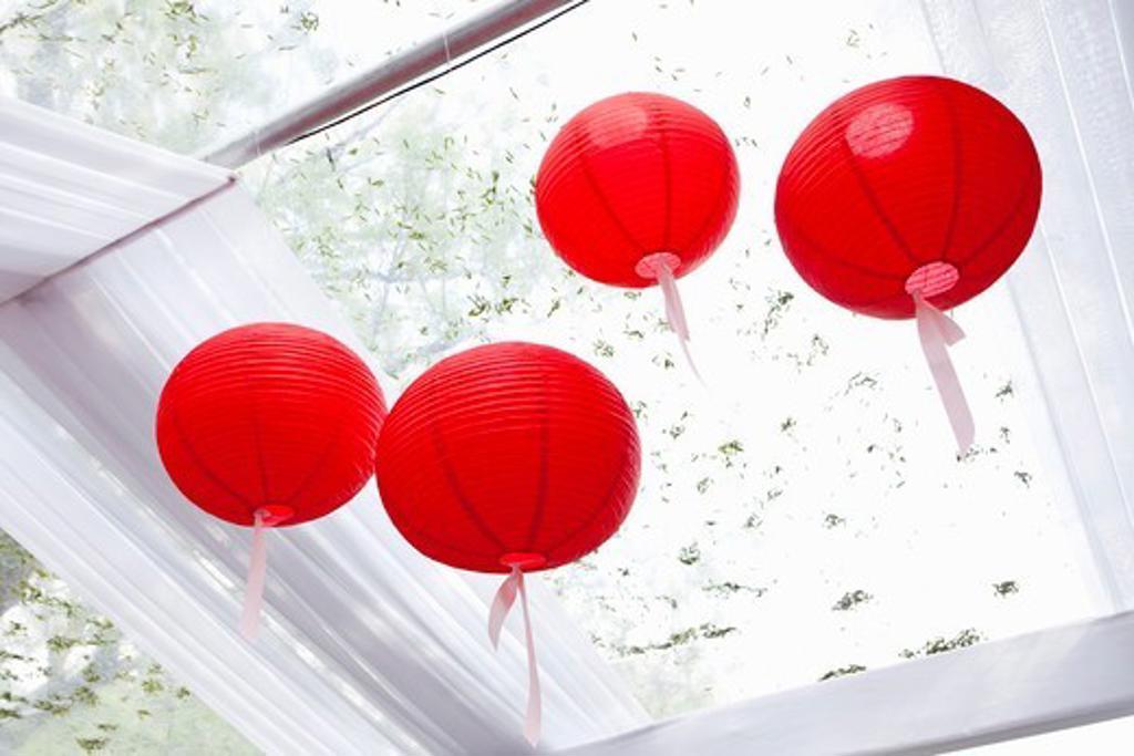 Paper Lanterns at Wedding : Stock Photo