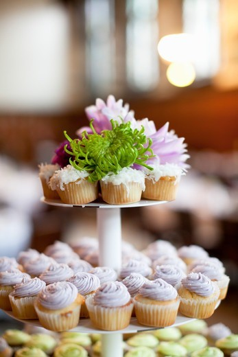 Cupcakes on Stand : Stock Photo